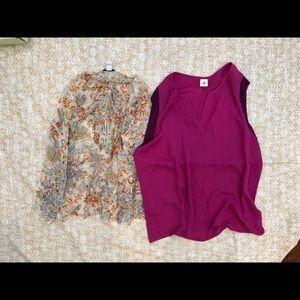Cabi blouse top lot bundle size XL silk purple